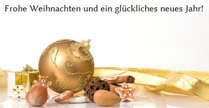 Frohe Weihnachten und ein glückliches 2013!