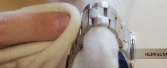 Reinigung von Uhren mit Metallarmband