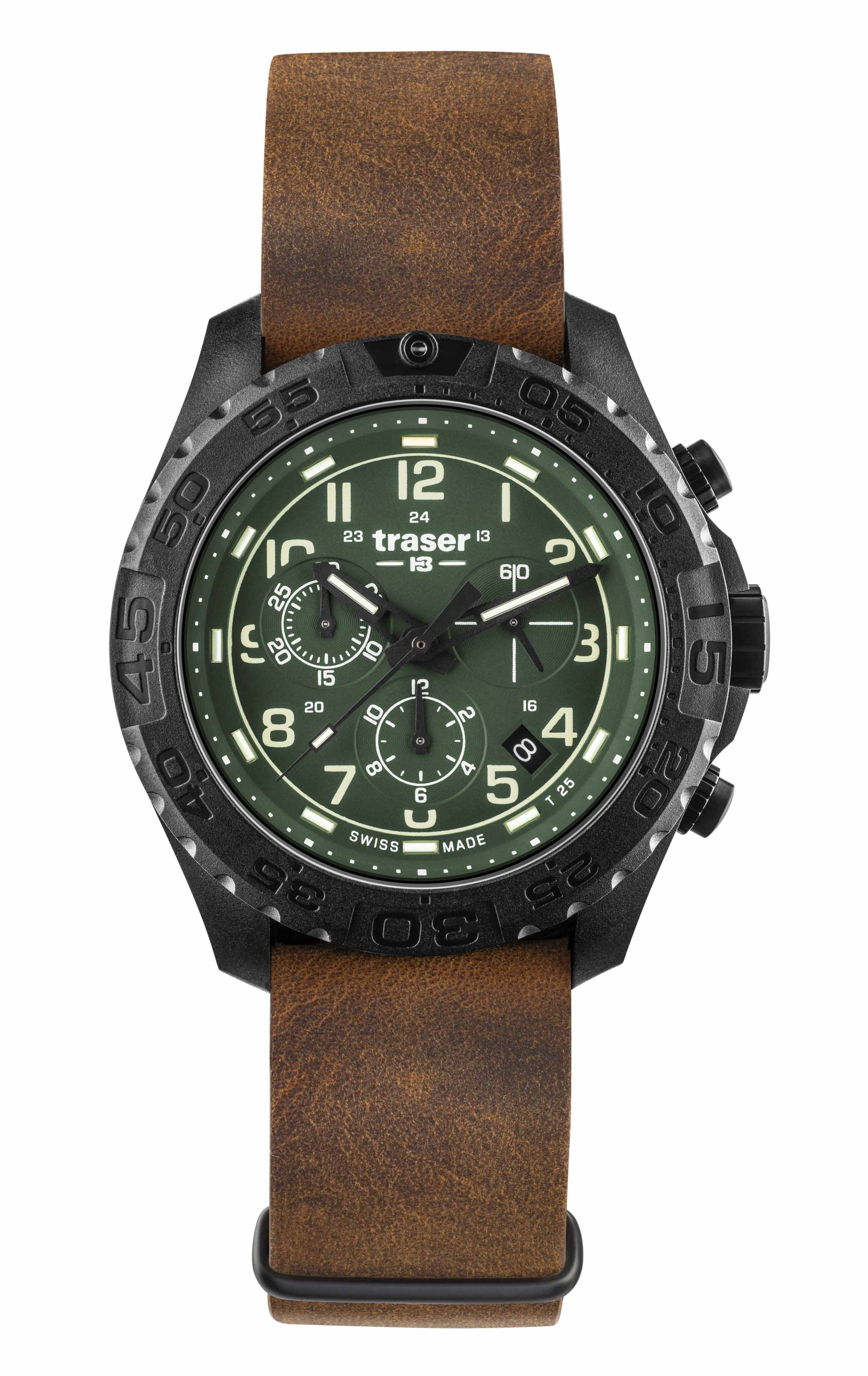 traser P96 OdP Evolution Green Chrono_Leather