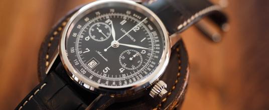 Der Longines Column-Wheel Single-Push-Piece Chronograph