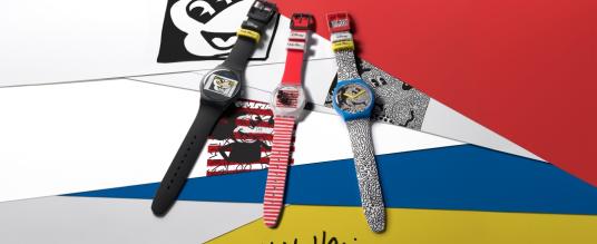 Disney und Keith Haring treffen sich bei Swatch